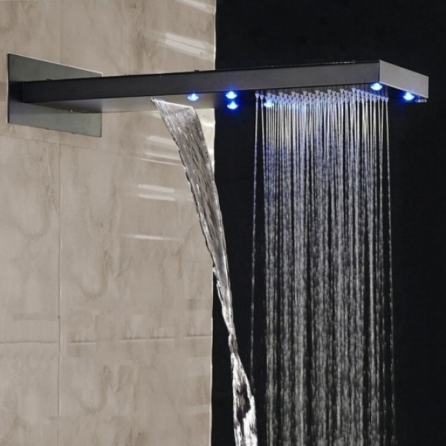 Waterfall Rainfall Oil Rubbed Bronze Shower System - All in One ...