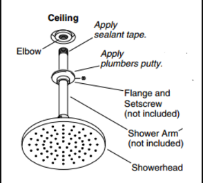 ... Screw New Shower Head Onto The Shower Arm Supply Pipe Threads Clockwise  And Hand Tighten