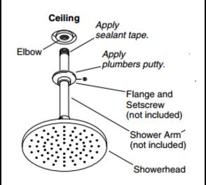 Verona Round Bathroom Shower Set With Rainfall Shower Head U0026 Hand Shower