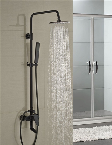 Milo Round Style Oil Rubbed Bronze Shower Faucet Set Single Handle ...