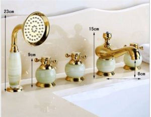 La Rochelle 5 Piece Deck Mounted Bathtub Faucet Bs567smr