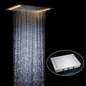Venice Rectangular Recessed Shower Head With Single Color