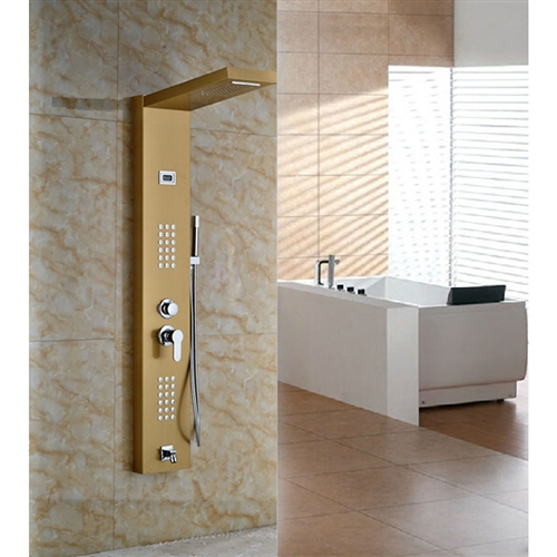 Limar Gold Polish Shower Panel All In One Installation Manuals