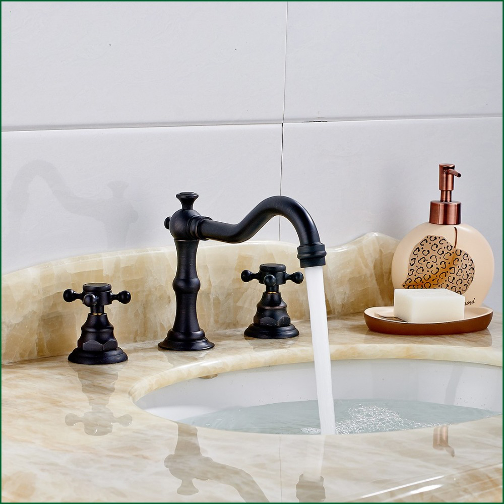 Lyon Oil Rubbed Bronze Bathroom Sink Faucet - All in One ...