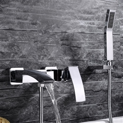 Cremona Bathtub Faucet With Hand Held Shower Installation