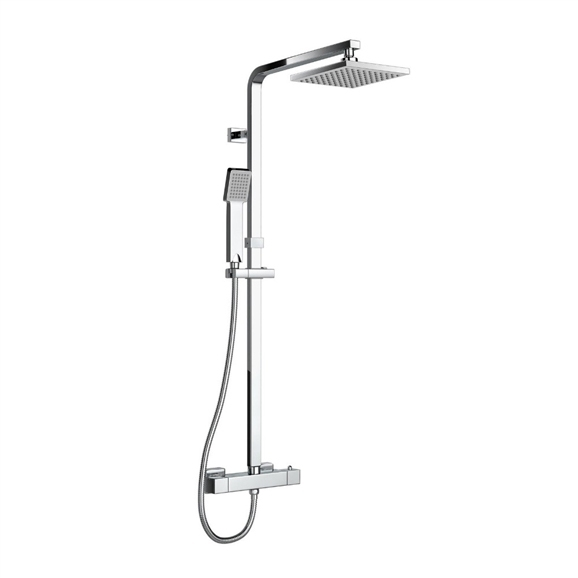 Lamia Thermostatic Double Head Shower Set - All in One Installation ...