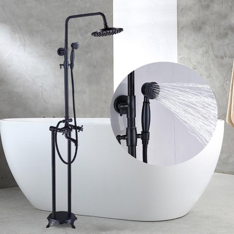 Quinn Free Standing Mounted Bathroom Tub Faucet Rainfall