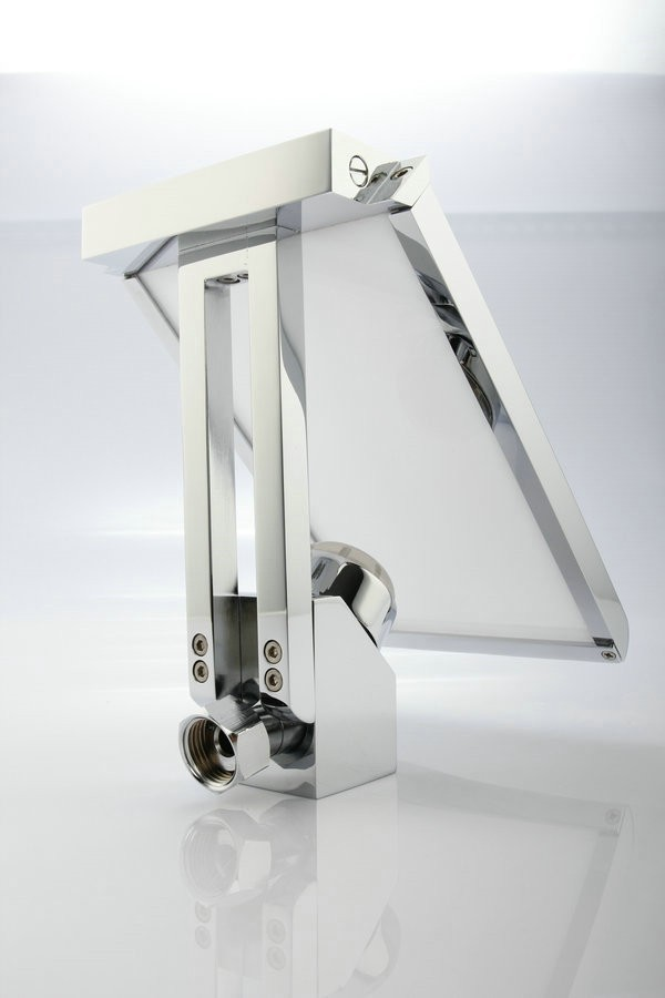Wall Mount Bathroom Sink Faucet With Led Glass All In