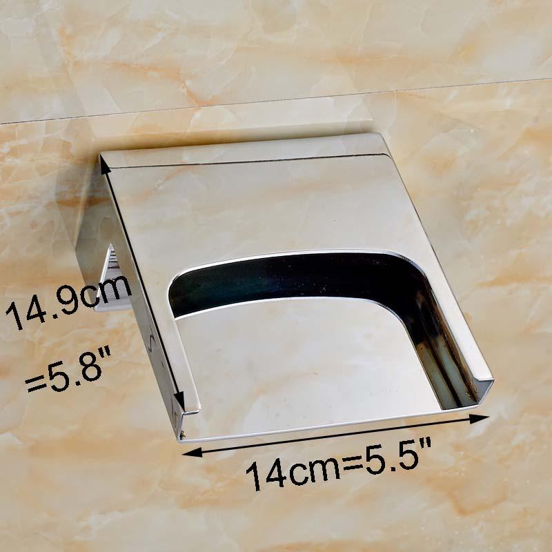 Carrara LED Wall Mounted Waterfall Dual Handle Bathroom Faucet