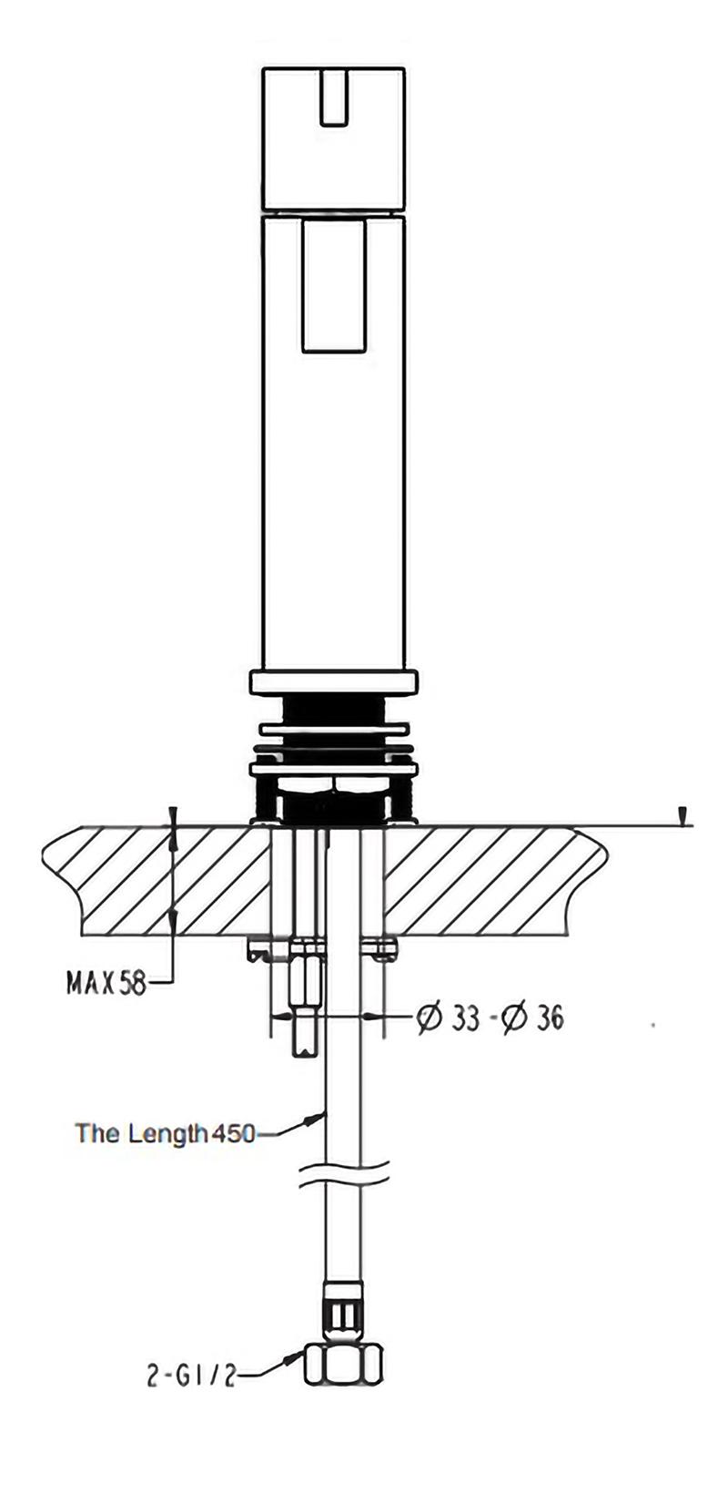 Ajaccio Single Handle Matte Black Deck Mounted Bathroom Faucet