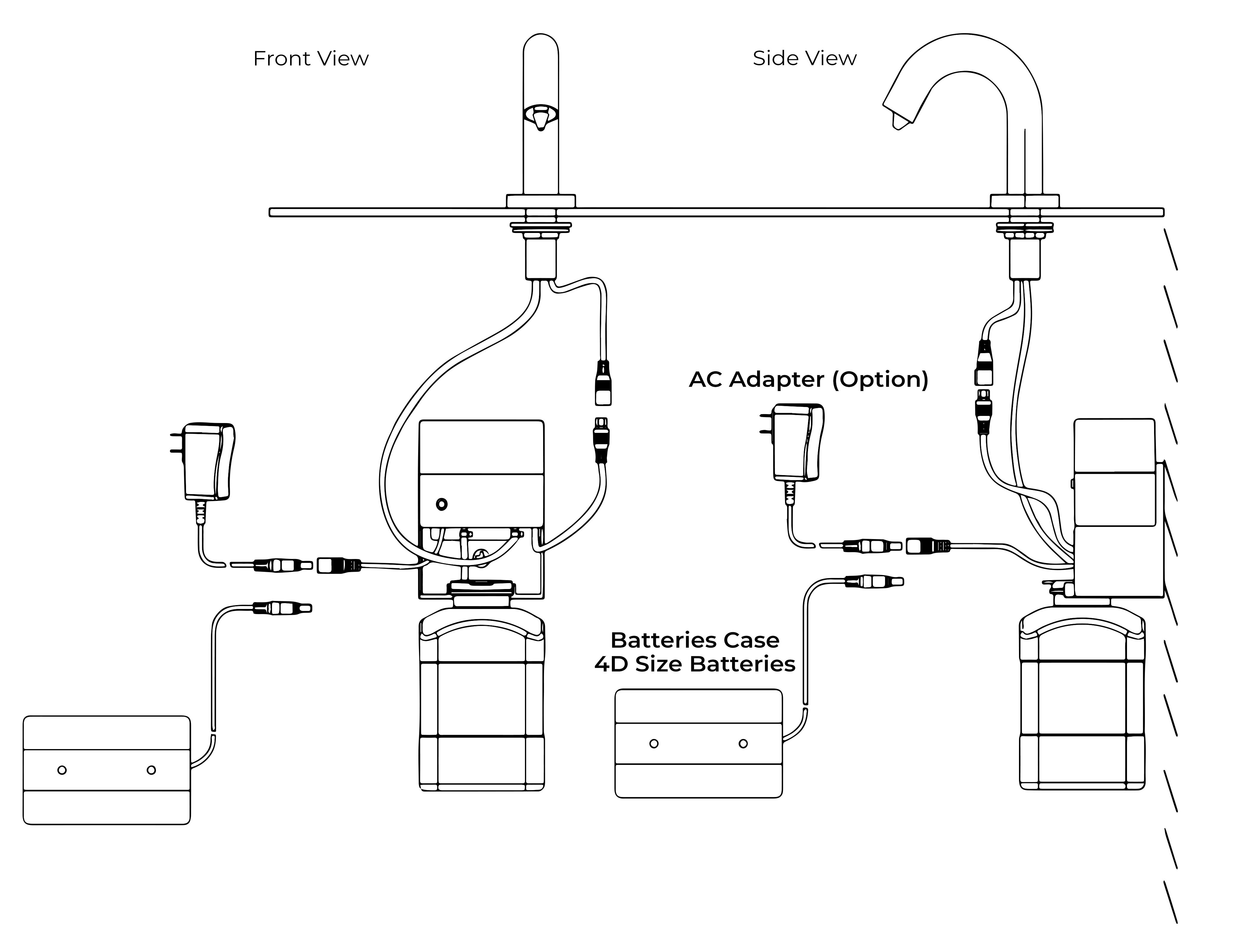 Reno Goose Neck Chrome Finish Dual Automatic Sensor Faucet And Soap Dispenser