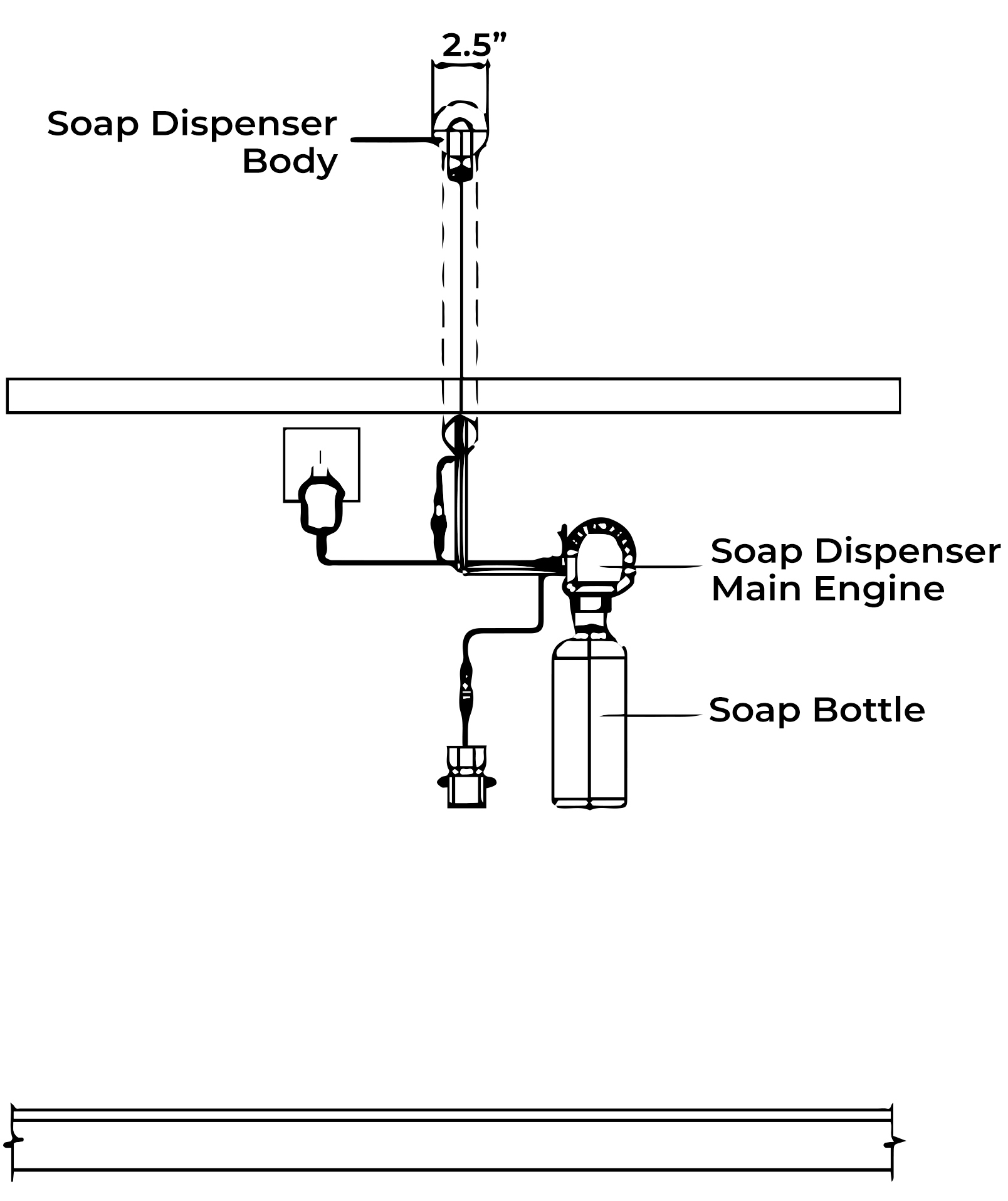 Fontana Searcy Wall Mounted Automatic Hands Free Soap Dispenser