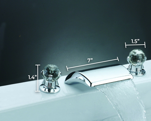 Millo Widespread Waterfall Faucet