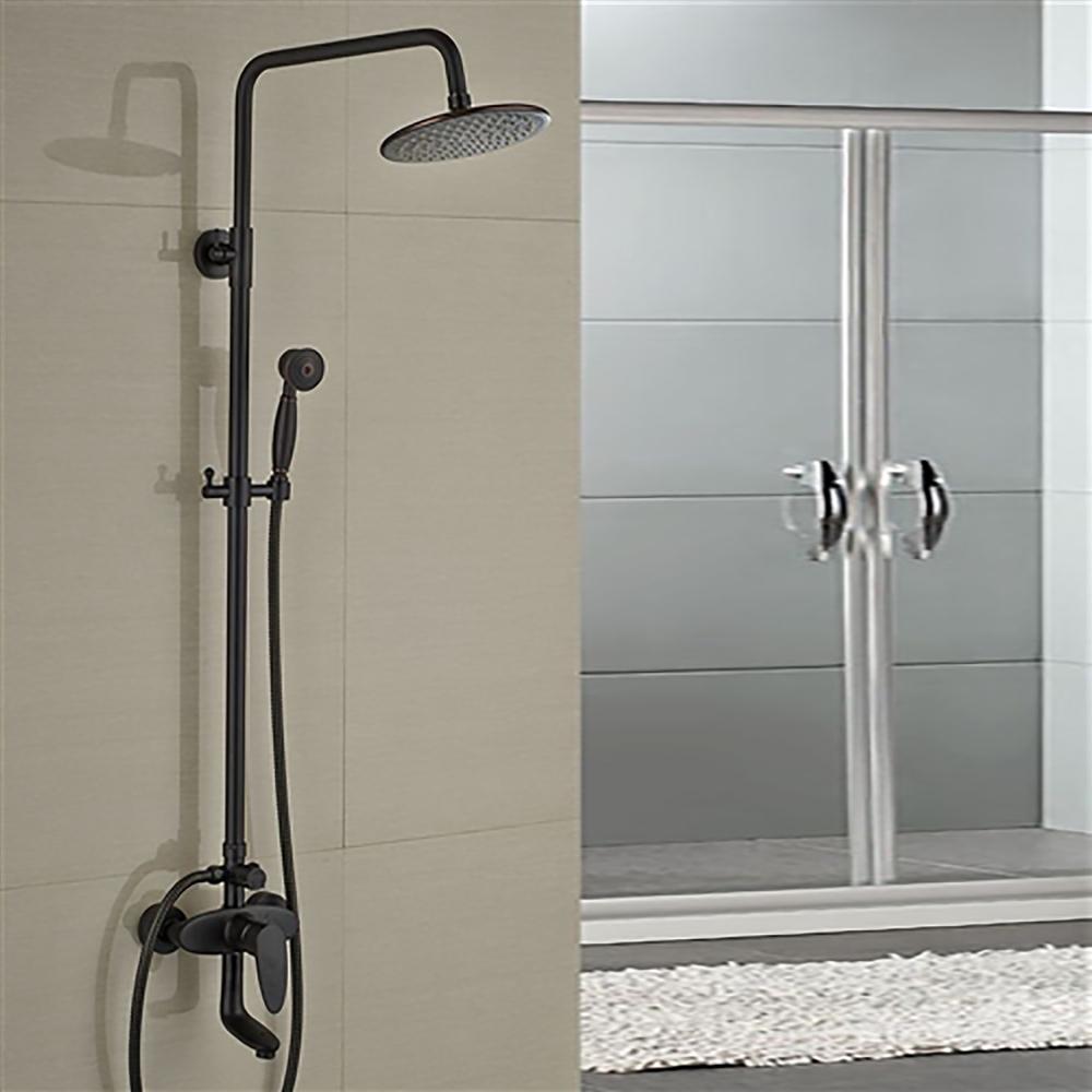 Fontana Milo Round Style Oil Rubbed Bronze Shower Faucet Set W